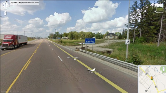 Google Maps Street View now available for Caledon, Bolton