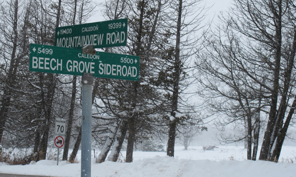 Mountainview Road and Beech Grove Sideroad