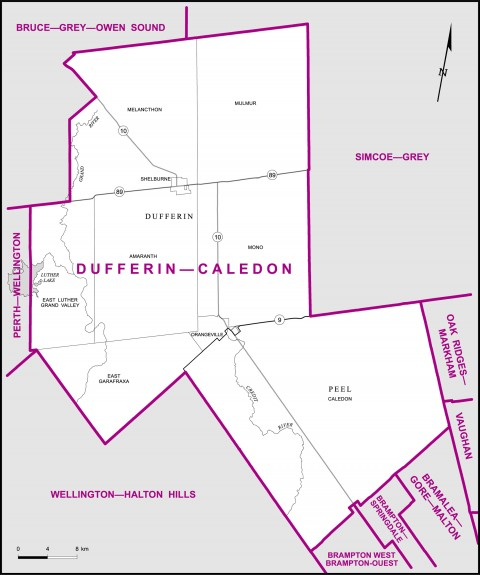 2011 Elections, dufferin-caledon riding