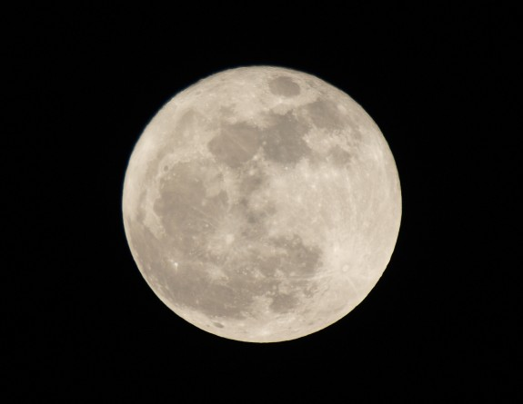 The Moon on April 7th 2012
